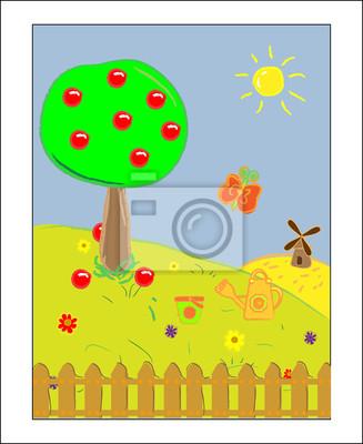 Landscape. Summer Day vector