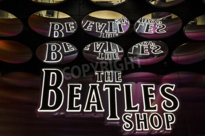 Wall mural Las Vegas - Circa December 2016: The Beatles Shop at The Mirage. This is the only licensed Beatles retail store I