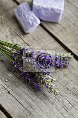 Lavender und Lavendelseife