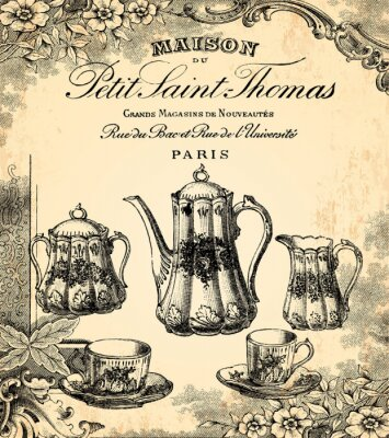 Wall mural Le salon de thé