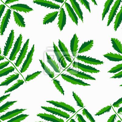 Wall mural leaf pattern