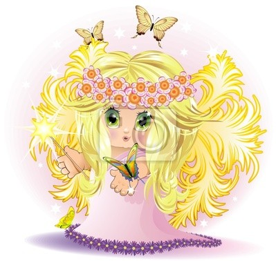 Leather Princess Baby Fairy - vector