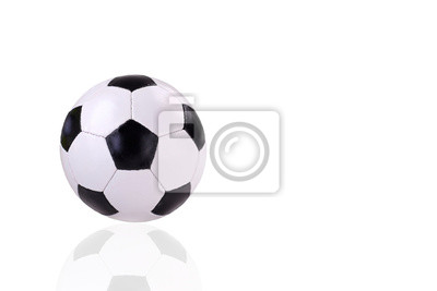 Lederfußball isoliert