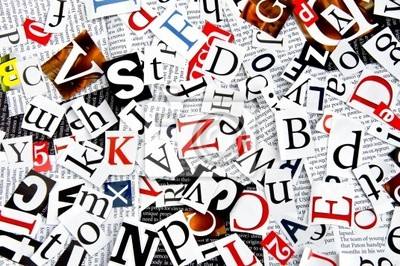 Wall mural letters