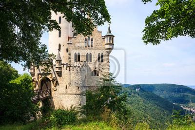 Lichtenstein castle behind trees