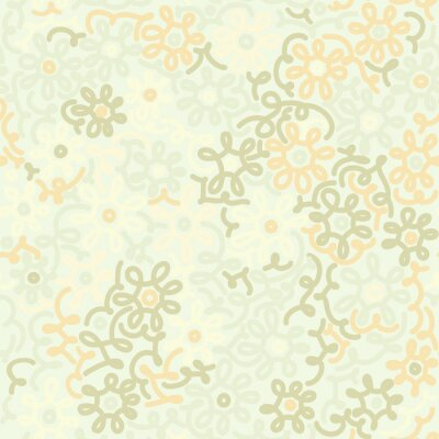 Wall mural Light floral chamomile retro vintage seamless pattern. Template