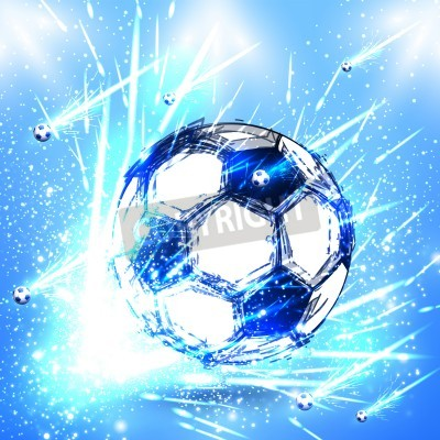 Wall mural light soccer stage