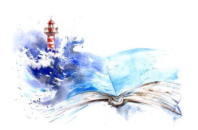Wall mural lighthouse