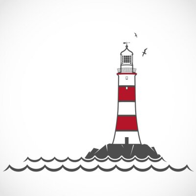 Wall mural Lighthouse icon.