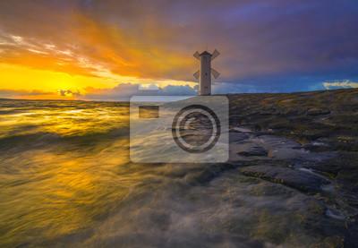 "lighthouse ""windmill"", Swinoujscie, baltic, Poland"