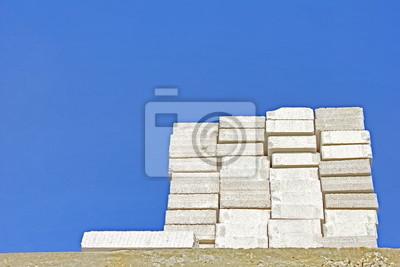 Wall mural lightweight concrete block
