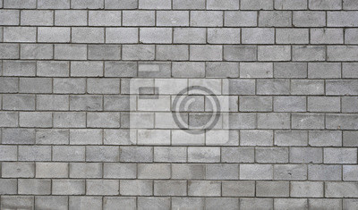 Wall mural Lightweight concrete block foamed texture. Background texture of white Lightweight Concrete block, raw material for industrial or house wall.