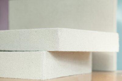 Wall mural Lightweight construction brick. Lightweight foamed gypsum block.