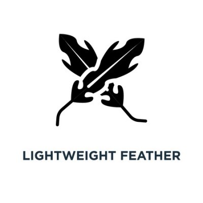 Wall mural Lightweight feather icon. Simple element illustration. Lightweight feather concept symbol design, vector logo illustration. Can be used for web and mobile.