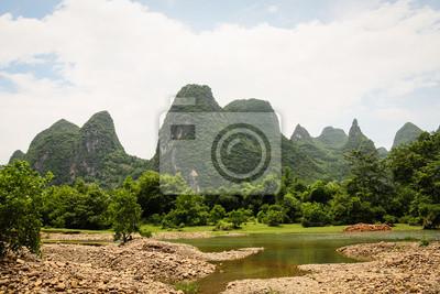 Limestone mountains landscape china