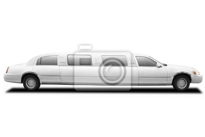 Wall mural limousine with clipping path