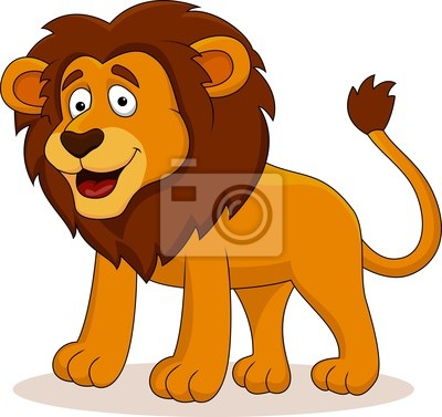 Wall mural Lion cartoon