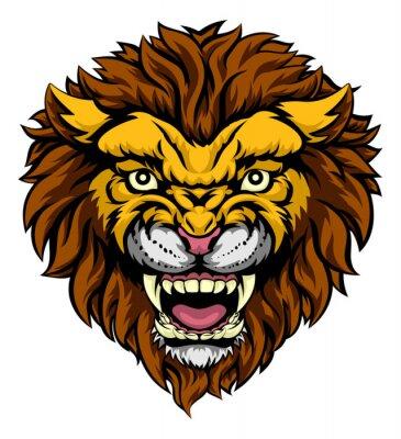 Wall mural Lion Mascot