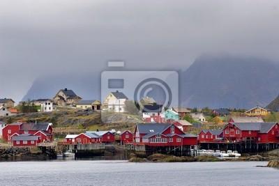 Little fisherman's town on the Lofoten Islands, Norway