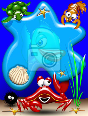 Wall mural Livestock -Sea Animals- Animaux Mer 3