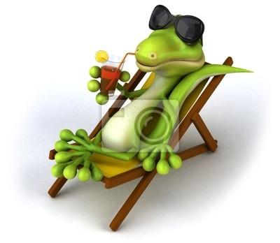 Lizard on holiday
