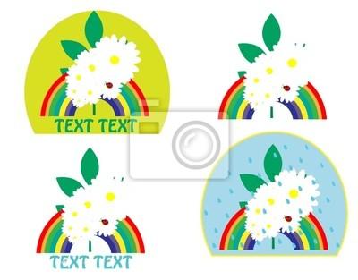 logo with a rainbow