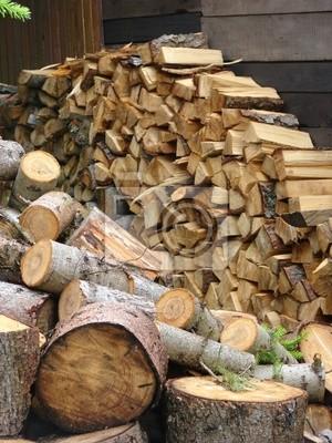 Logs, wood store