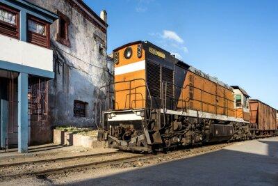 Wall mural Lokomotive im Bahnhof von Camagüey Kuba