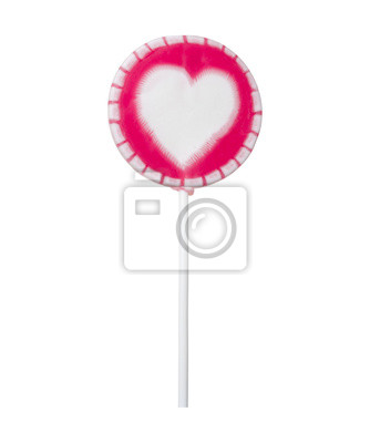 Wall mural Lollipop with heart