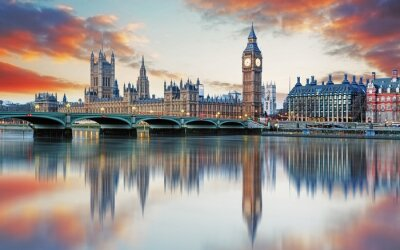 Wall mural London - Big ben and houses of parliament, UK