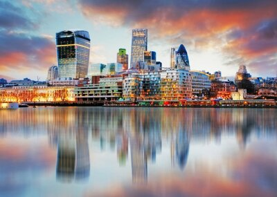 Wall mural London skyline
