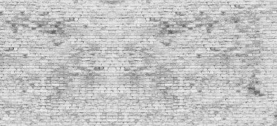 Wall mural Long white brick wall
