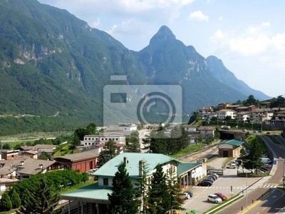 Longarone Village Aerial Italy