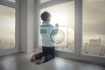 Looking out of the window