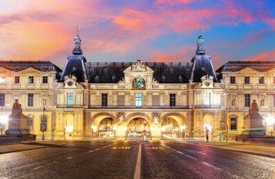 Wall mural  Louvre Museum in Paris at sunrise, France