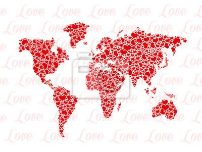 Wall mural love around the world