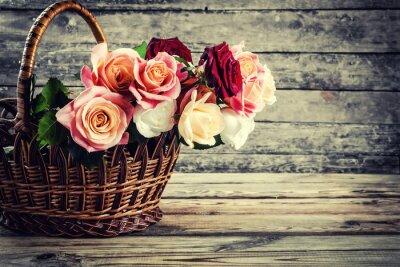 Wall mural Lovely rose flowers