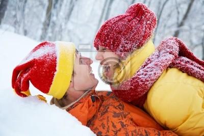 lovers in winter