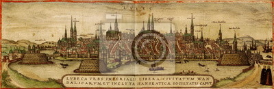 Lubek old map