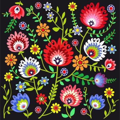 Wall mural ludowy wzór kwiatowy