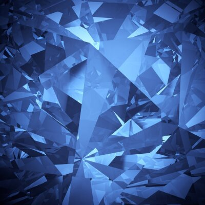 Wall mural Luxury blue crystal facet background
