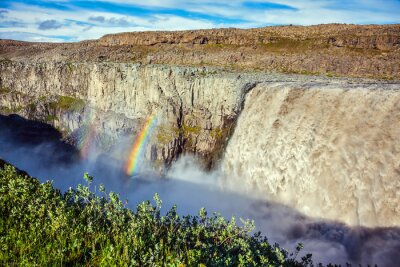 Wall mural  Magnificent  waterfall Dettifoss