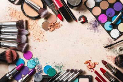 Wall mural Makeup products