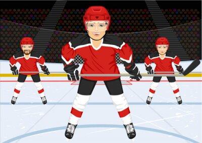 Wall mural male ice hockey team