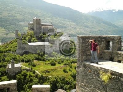Man Castle Sion Switzerland