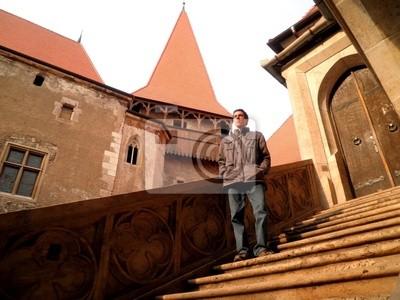 Man Hunedoara Castle