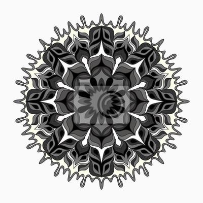 Mandala. Round Ornament Pattern. Vintage decorative elements. vector illustration