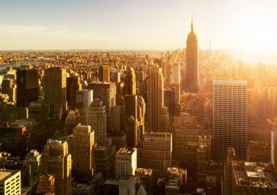 Wall mural Manhattan Skyline bei Sonnenuntergang in New York