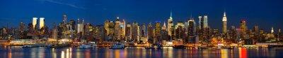 Wall mural Manhattan skyline panorama at night, New York