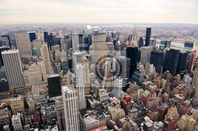 Manhattan skyline with New York City skyscrapers